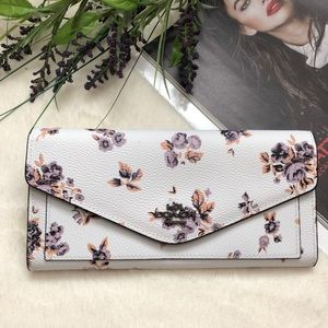 COACH Soft Wallet With Cross Stitch Floral Print